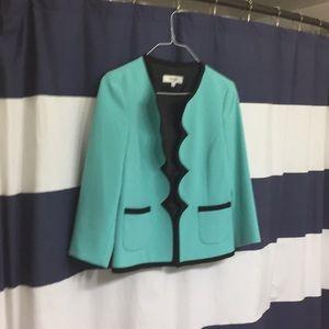 Aqua work blazer, Size 8